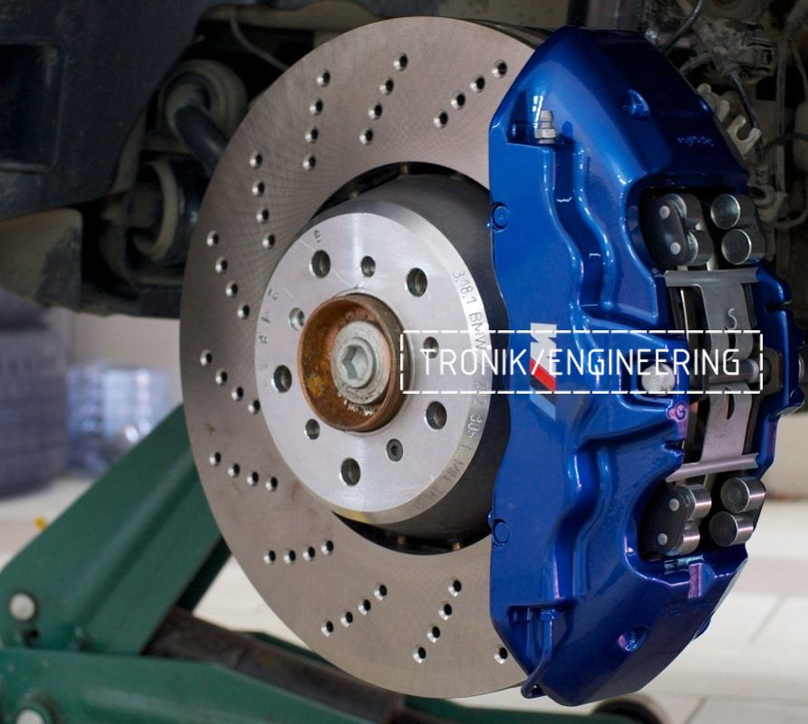 Тормозная система BMW X3 F25 Brembo 6-pot (32-36-38) диск BMW_M 374-36. Фотография 8