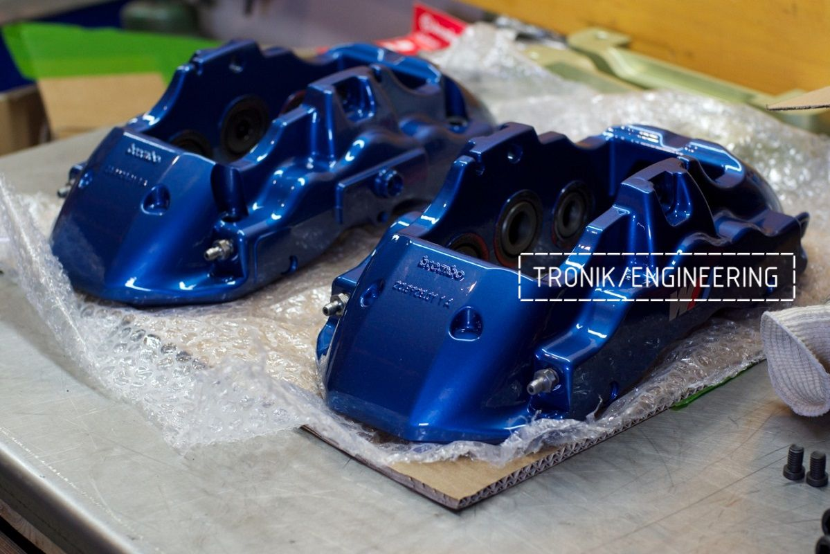 Тормозная система BMW X3 F25 Brembo 6-pot (32-36-38) диск BMW_M 374-36. Фотография 5