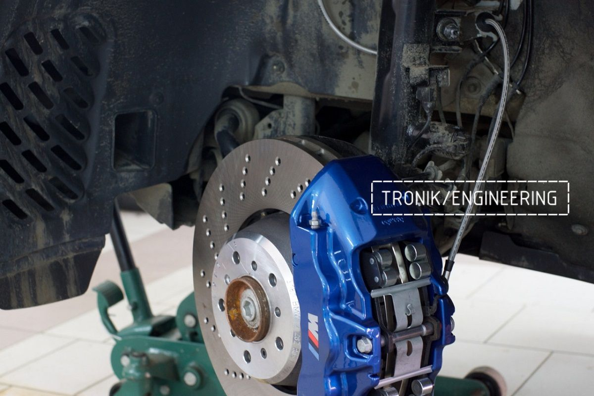 Тормозная система BMW X3 F25 Brembo 6-pot (32-36-38) диск BMW_M 374-36. Фотография 9