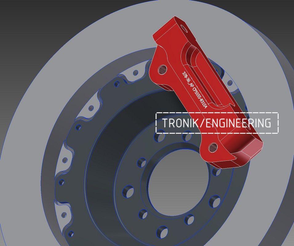 Проектирование и изготовление комплектующих для сборки тормозной системы AP Racing. Фотография 4