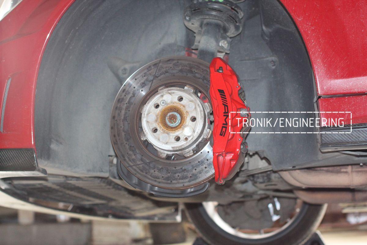 OEM Front rotor 360-36, 6-pot caliper Mercedes C63AMG W204