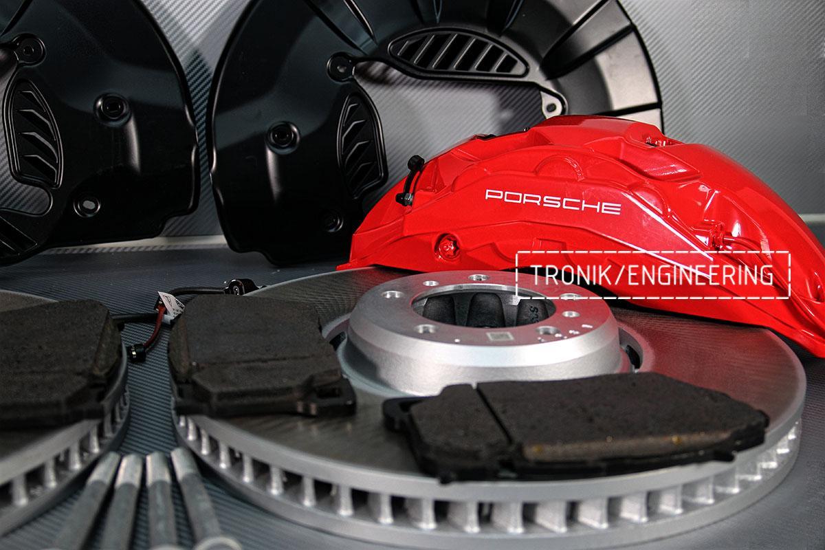Комплект дооснащения 10-ти поршневым суппортом и диском 420-40 мм для Porsche Panamera 970 и 971. Фотография 6