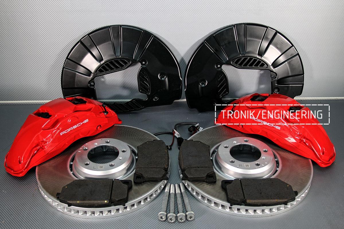 Комплект дооснащения 10-ти поршневым суппортом и диском 420-40 мм для Porsche Panamera 970 и 971. Фотография 1