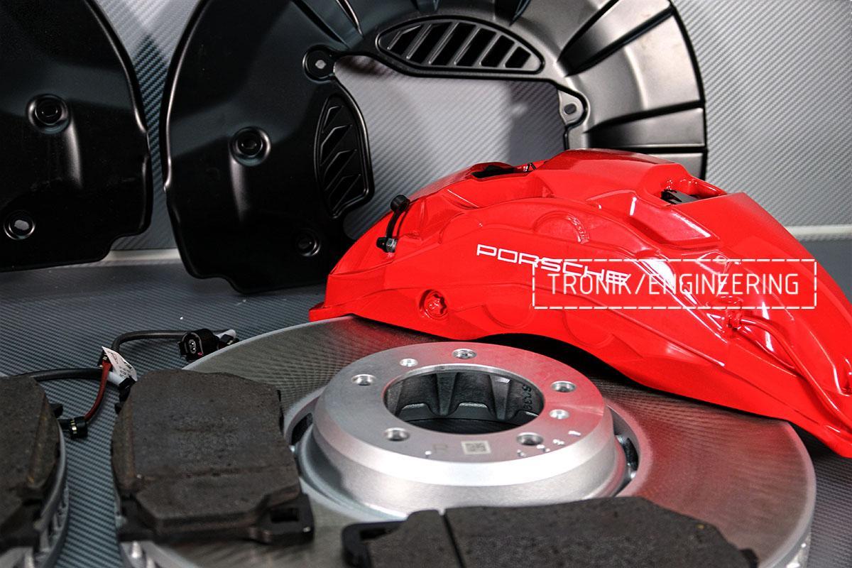 Комплект дооснащения 10-ти поршневым суппортом и диском 420-40 мм для Porsche Panamera 970 и 971. Фотография 8