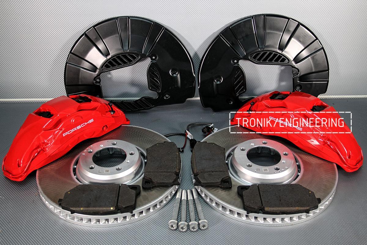 Комплект дооснащения 10-ти поршневым суппортом и диском 420-40 мм для Porsche Panamera 970 и 971. Фотография 3