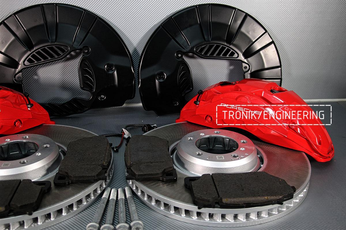 Комплект дооснащения 10-ти поршневым суппортом и диском 420-40 мм для Porsche Panamera 970 и 971. Фотография 4