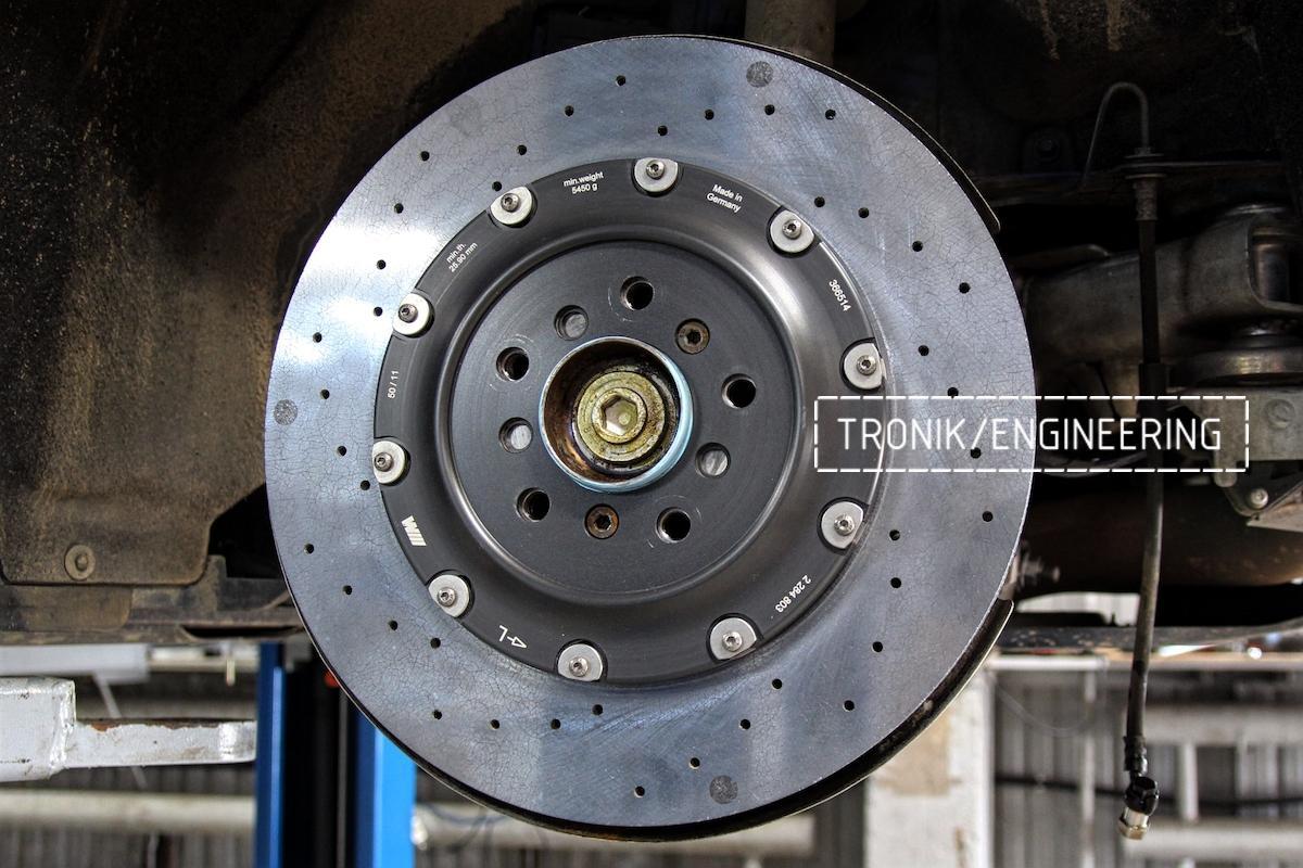 Задний керамический тормозной диск BMW M6 F06. Фото 1