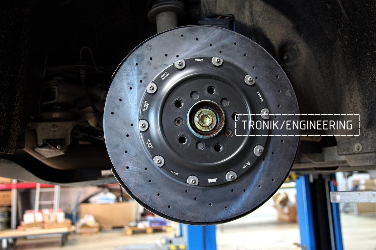 Задний керамический тормозной диск BMW M6 F06. Фото 2