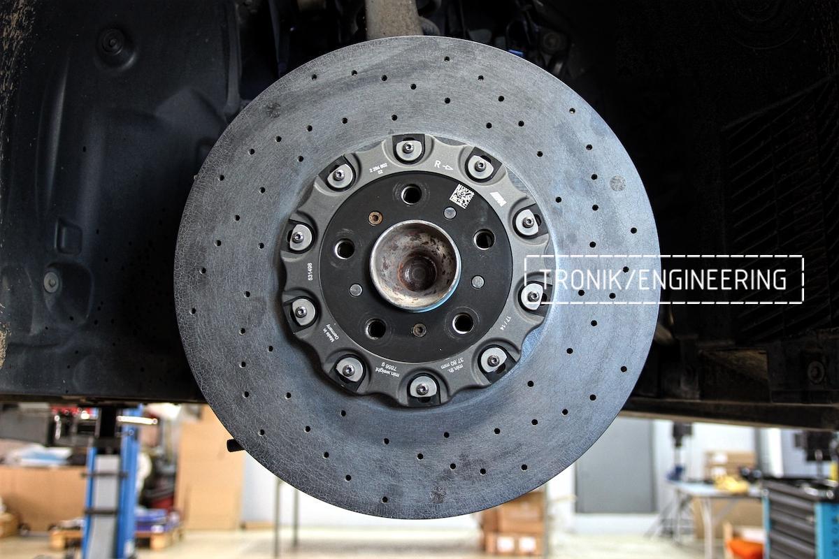 Передний керамический тормозной диск BMW M6 F06. Фото 1