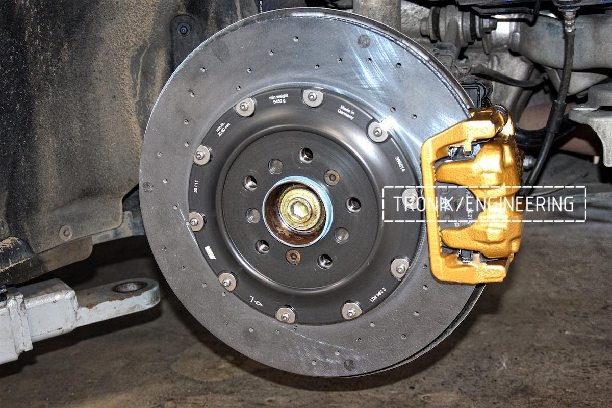 Задняя карбон-укерамическая тормозная система BMW M6 F06. Фото 1