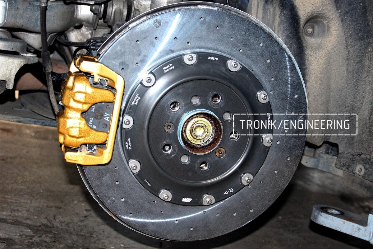 Задняя карбон-укерамическая тормозная система BMW M6 F06. Фото 2