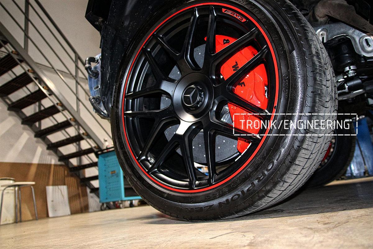 Комплект карбон-керамики на Mercedes-Benz W463. Фотография 12