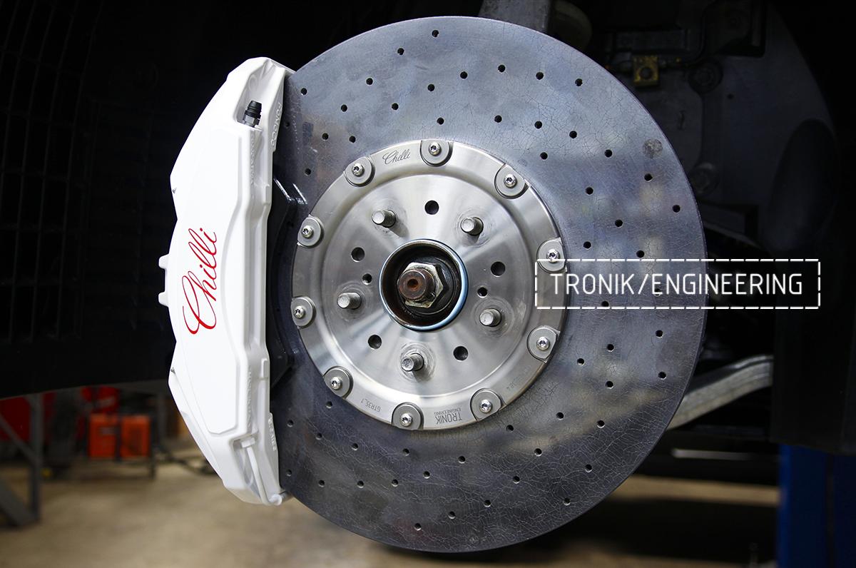 Комплект карбон-керамической тормозной системы Nissan GT-R. Фотография 8
