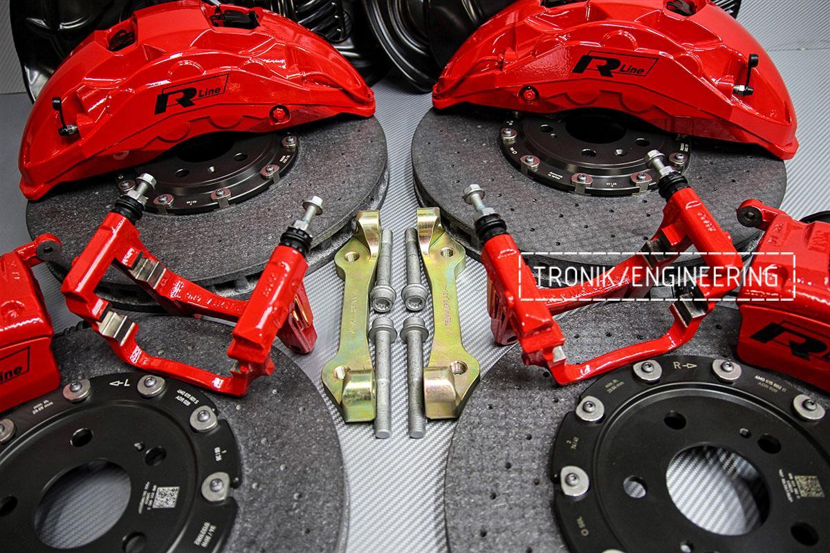Комплект карбон-керамической тормозной системы VW Touareg. Фотография 10
