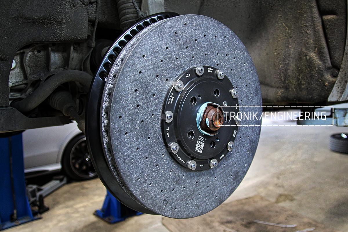 Комплект карбон-керамической тормозной системы VW Touareg. Фотография 14