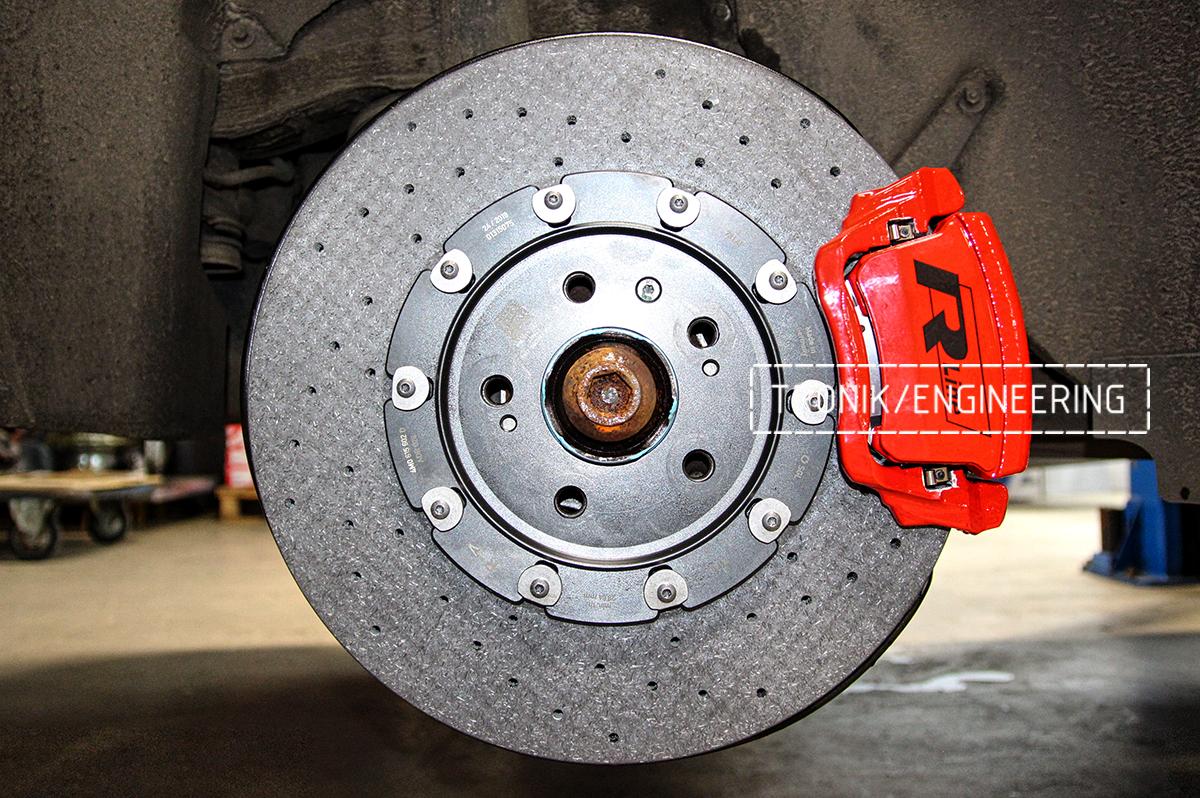 Комплект карбон-керамической тормозной системы VW Touareg. Фотография 16