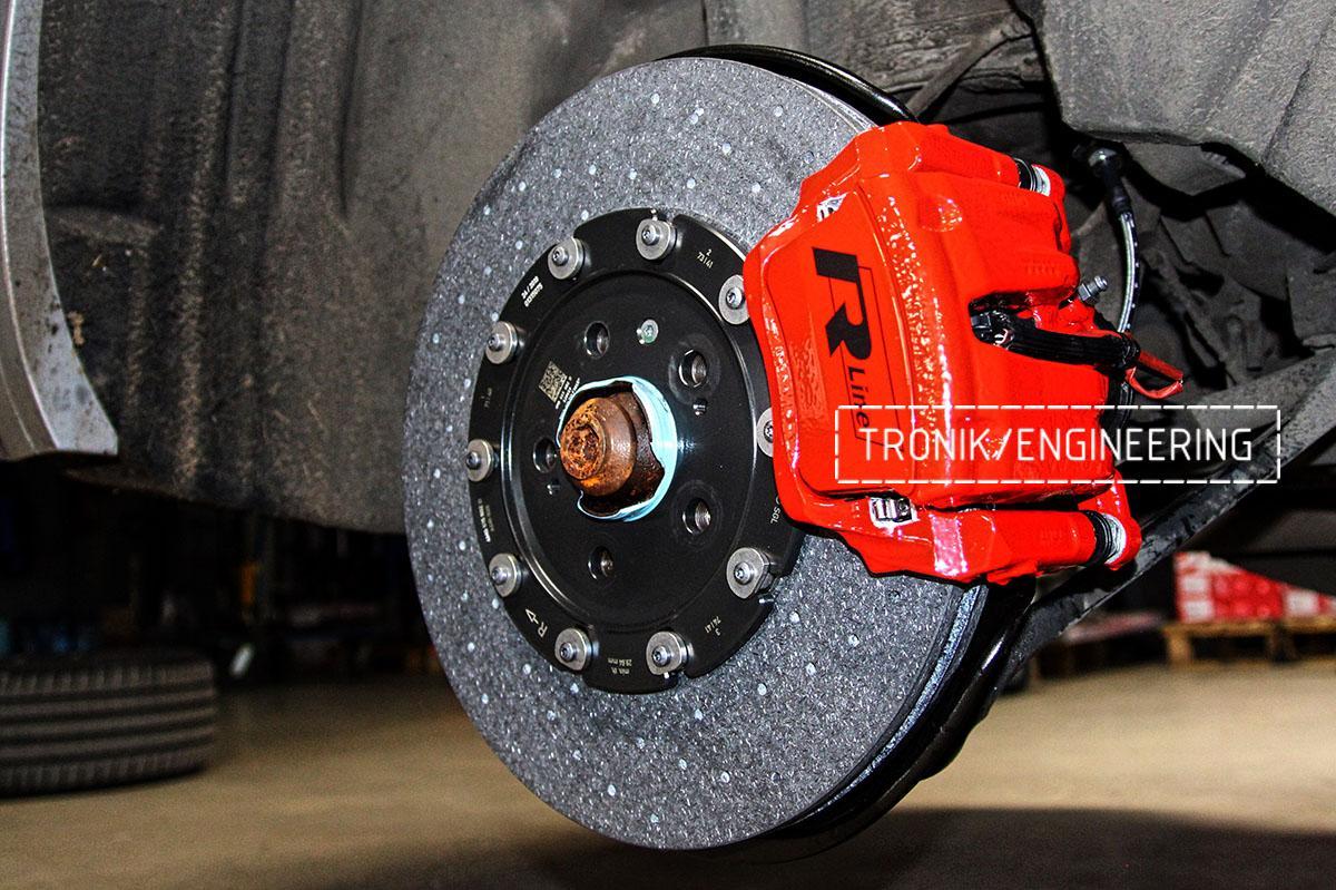 Комплект карбон-керамической тормозной системы VW Touareg. Фотография 17