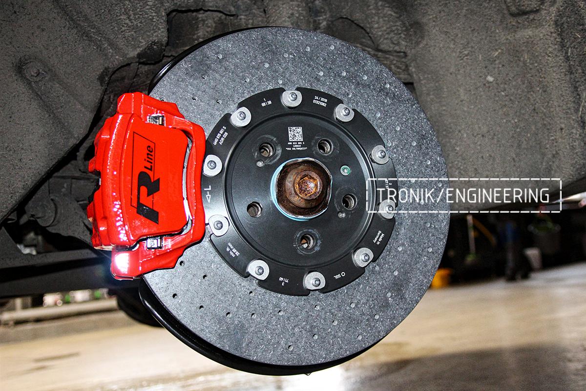 Комплект карбон-керамической тормозной системы VW Touareg. Фотография 18
