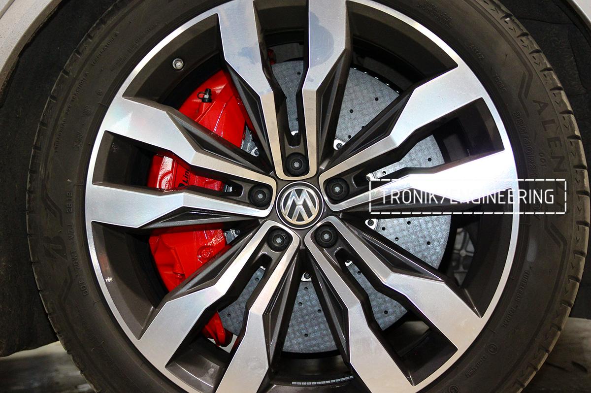 Комплект карбон-керамической тормозной системы VW Touareg. Фотография 19