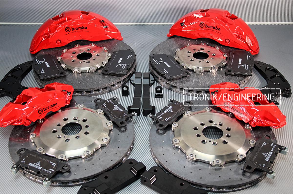 Комплект карбон-керамической тормозной системы BMW X6 F96. Фотография 7