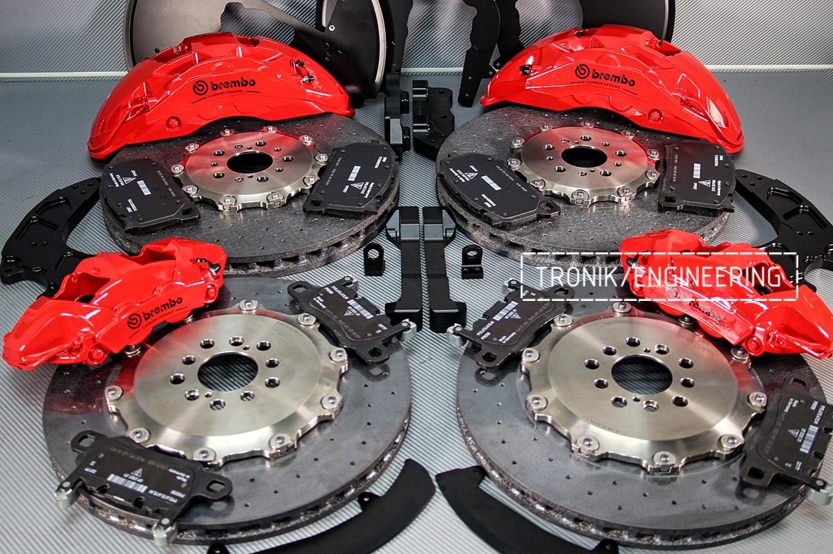 Комплект карбон-керамической тормозной системы BMW X6 F96. Фотография 8
