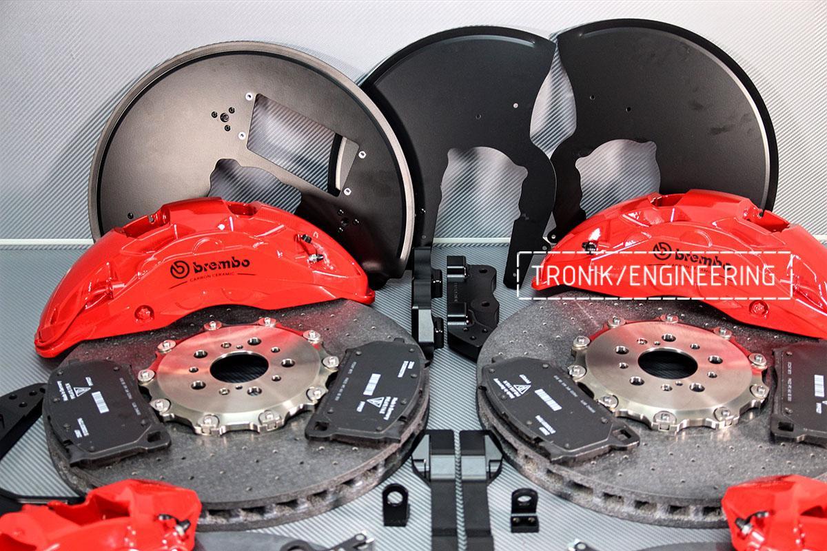 Комплект карбон-керамической тормозной системы BMW X6 F96. Фотография 1