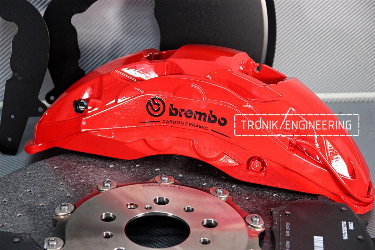 Комплект карбон-керамической тормозной системы BMW X6 F96. Фотография 4