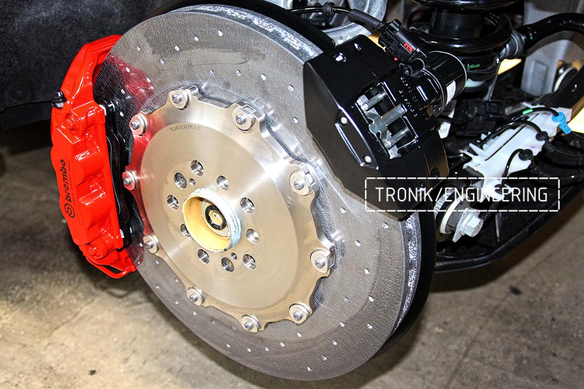 Комплект карбон-керамической тормозной системы BMW X6 F96. Фотография 17