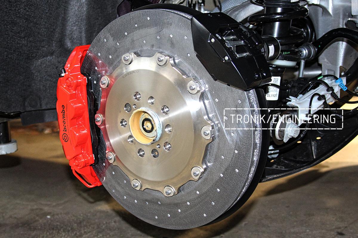 Комплект карбон-керамической тормозной системы BMW X6 F96. Фотография 16