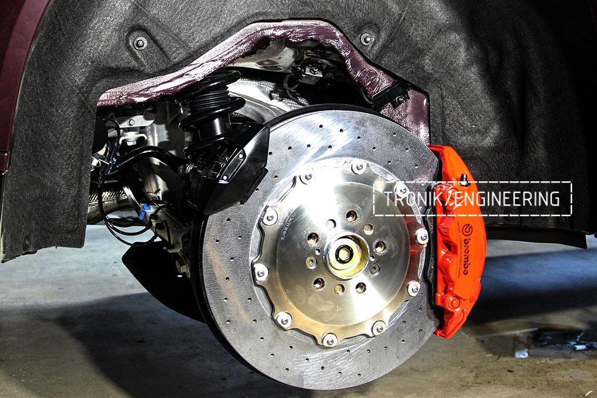 Комплект карбон-керамической тормозной системы BMW X6 F96. Фотография 15