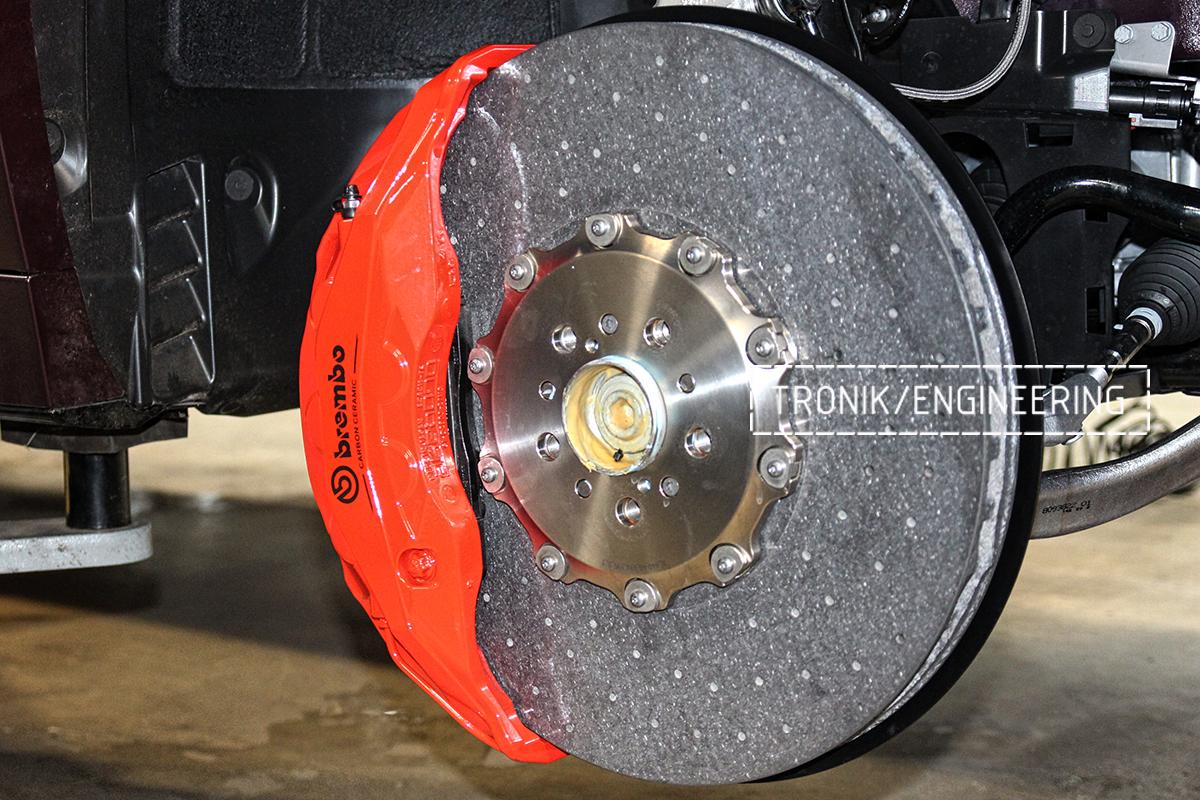 Комплект карбон-керамической тормозной системы BMW X6 F96. Фотография 13