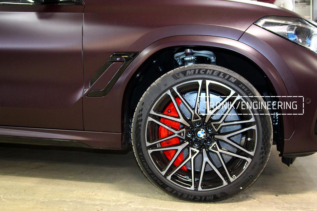 Комплект карбон-керамической тормозной системы BMW X6 F96. Фотография 36