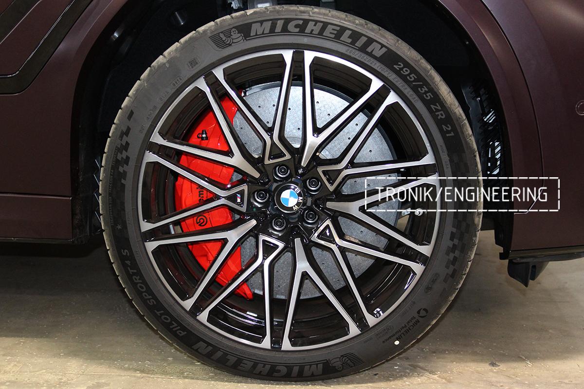 Комплект карбон-керамической тормозной системы BMW X6 F96. Фотография 35