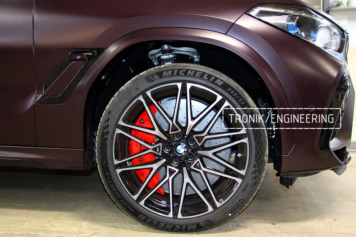 Комплект карбон-керамической тормозной системы BMW X6 F96. Фотография 34