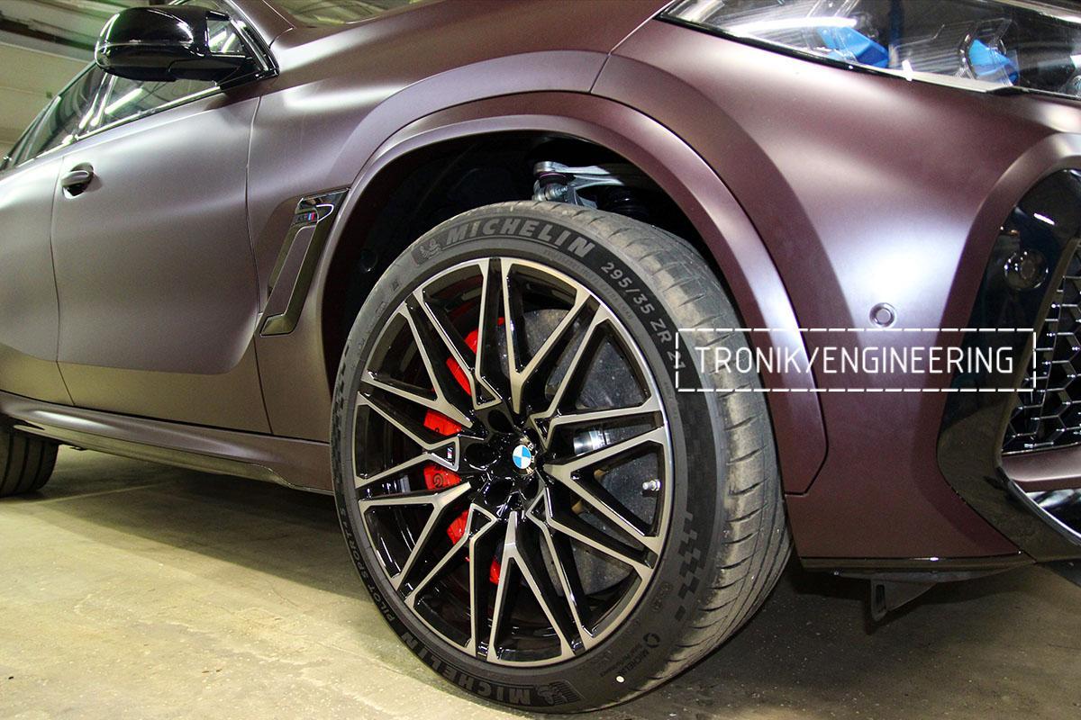 Комплект карбон-керамической тормозной системы BMW X6 F96. Фотография 33
