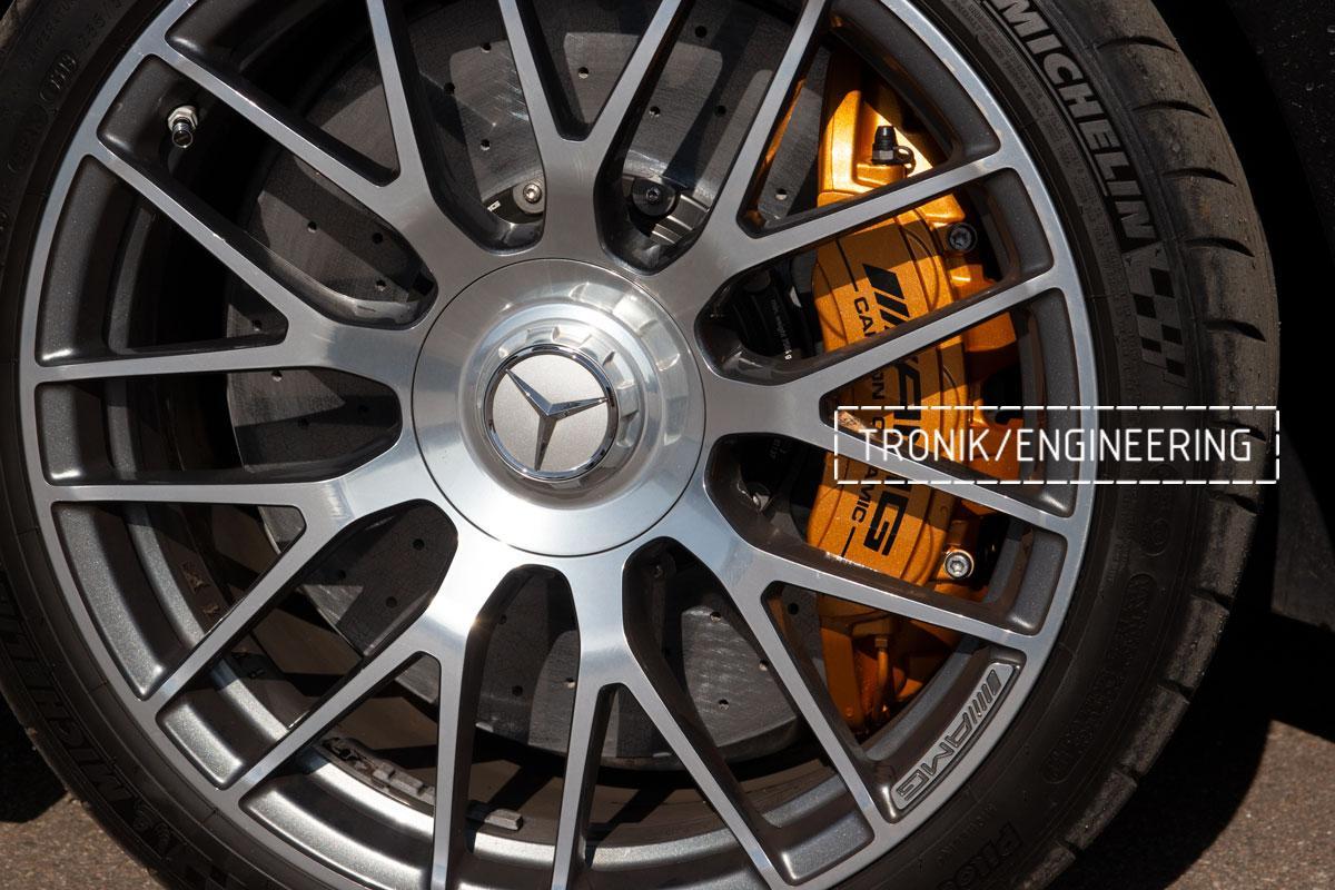 Комплект карбоно-керамической тормозной системы Mercedes-Benz SLS W231 63 AMG. Фотография 17