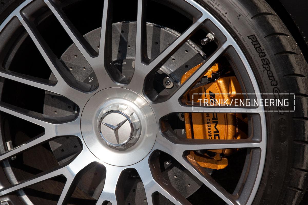 Комплект карбоно-керамической тормозной системы Mercedes-Benz SLS W231 63 AMG. Фотография 20