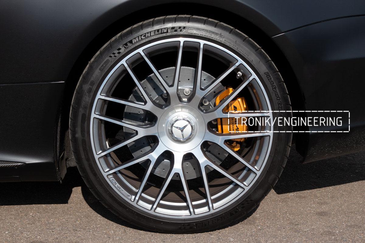 Комплект карбоно-керамической тормозной системы Mercedes-Benz SLS W231 63 AMG. Фотография 21