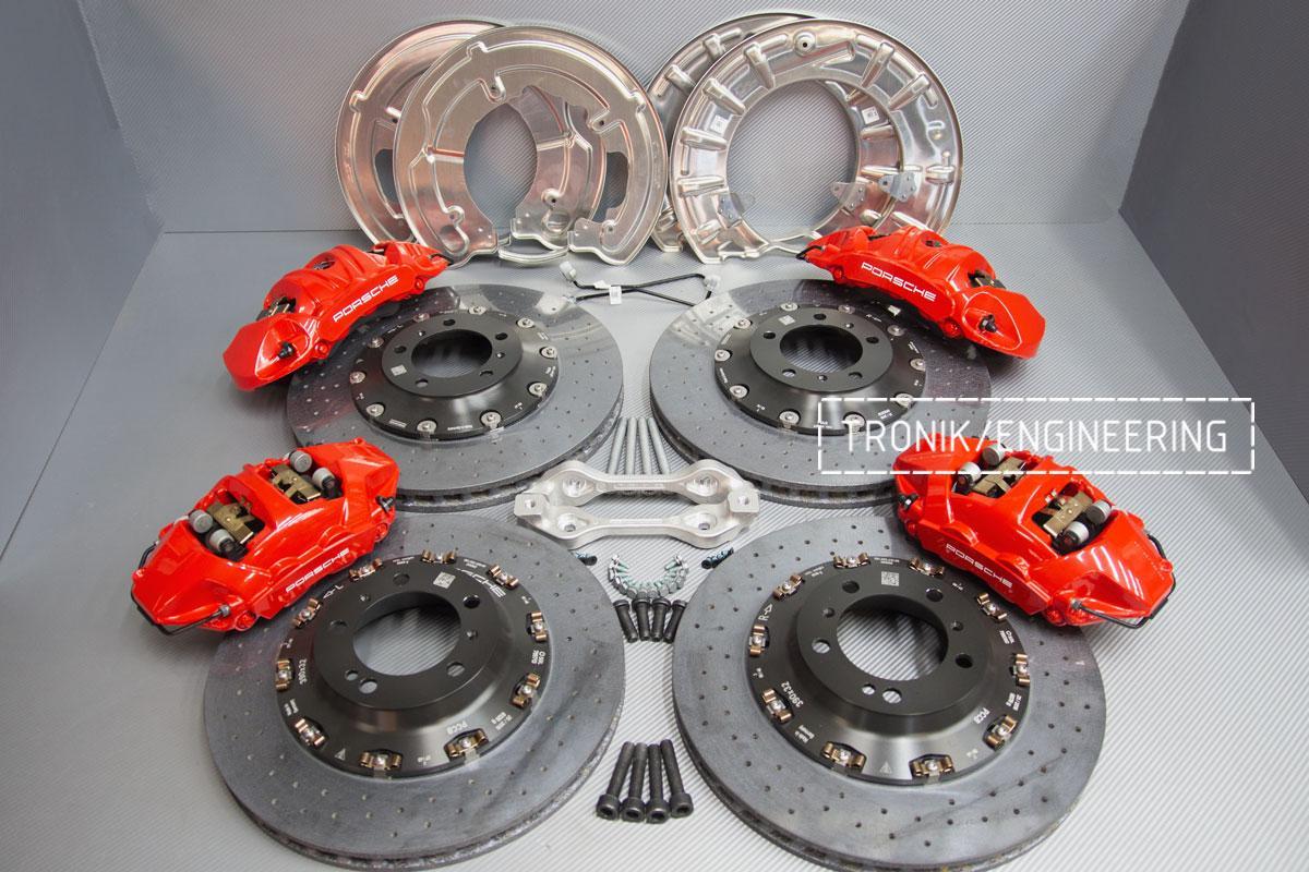 Карбон-керамическая тормозная система Porsche 992 Carrera. Фотография 5