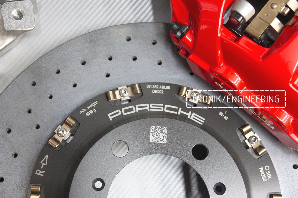 Карбон-керамическая тормозная система Porsche 992 Carrera. Фотография 7