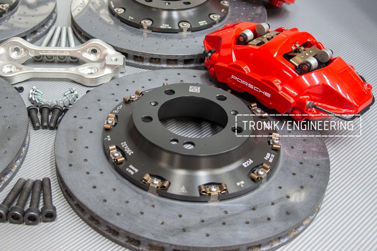 Карбон-керамическая тормозная система Porsche 992 Carrera. Фотография 6