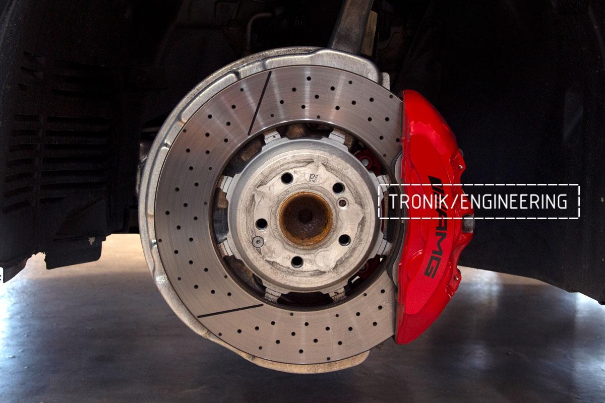 Комплект карбоно-керамической тормозной системы Mercedes-Benz SLS W231 63 AMG. Фотография 3