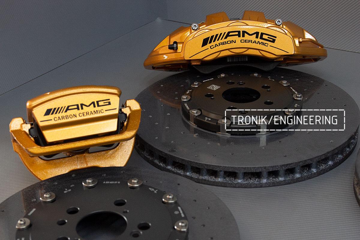 Комплект карбоно-керамической тормозной системы Mercedes-Benz SLS W231 63 AMG. Фотография 9