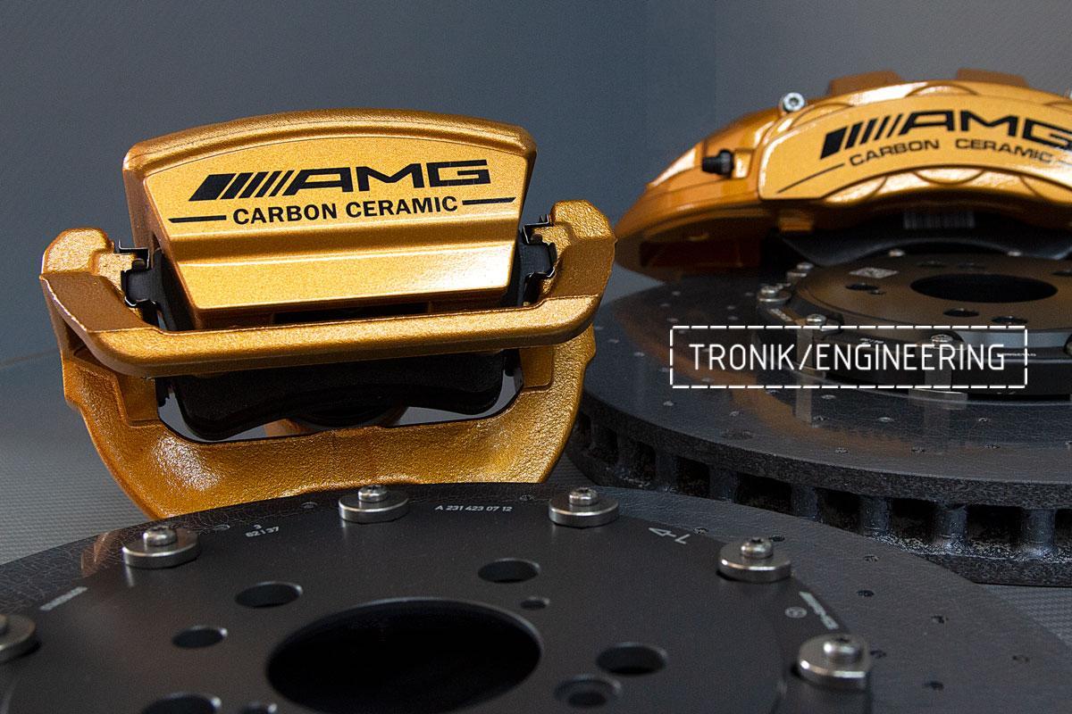 Комплект карбоно-керамической тормозной системы Mercedes-Benz SLS W231 63 AMG. Фотография 7