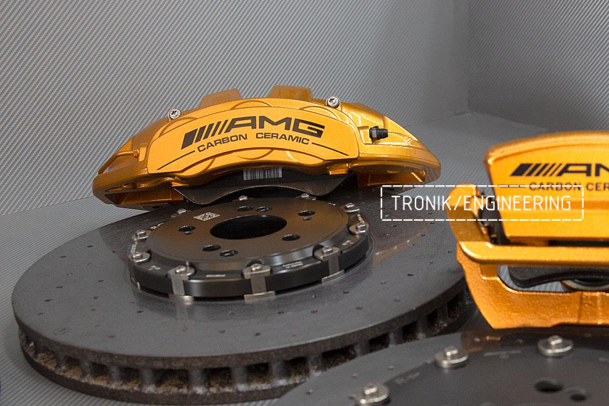 Комплект карбоно-керамической тормозной системы Mercedes-Benz SLS W231 63 AMG. Фотография 6