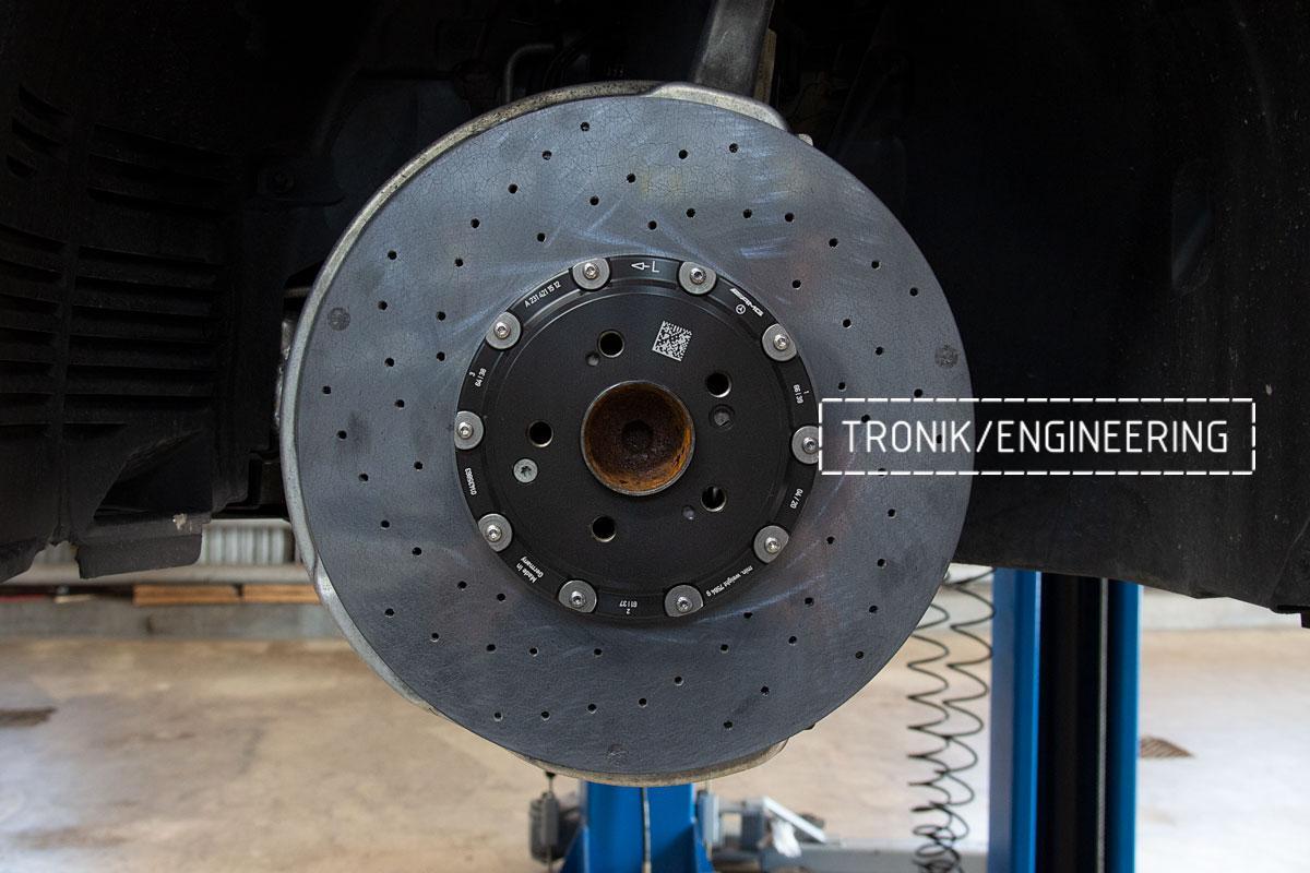 Комплект карбоно-керамической тормозной системы Mercedes-Benz SLS W231 63 AMG. Фотография 12