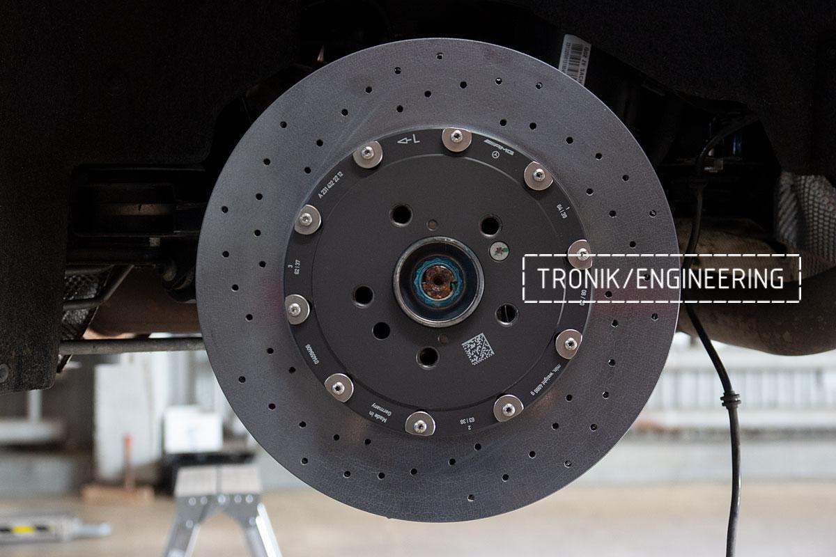 Комплект карбоно-керамической тормозной системы Mercedes-Benz SLS W231 63 AMG. Фотография 14