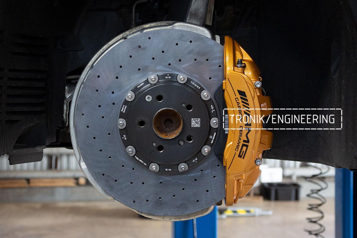 Комплект карбоно-керамической тормозной системы Mercedes-Benz SLS W231 63 AMG. Фотография 13