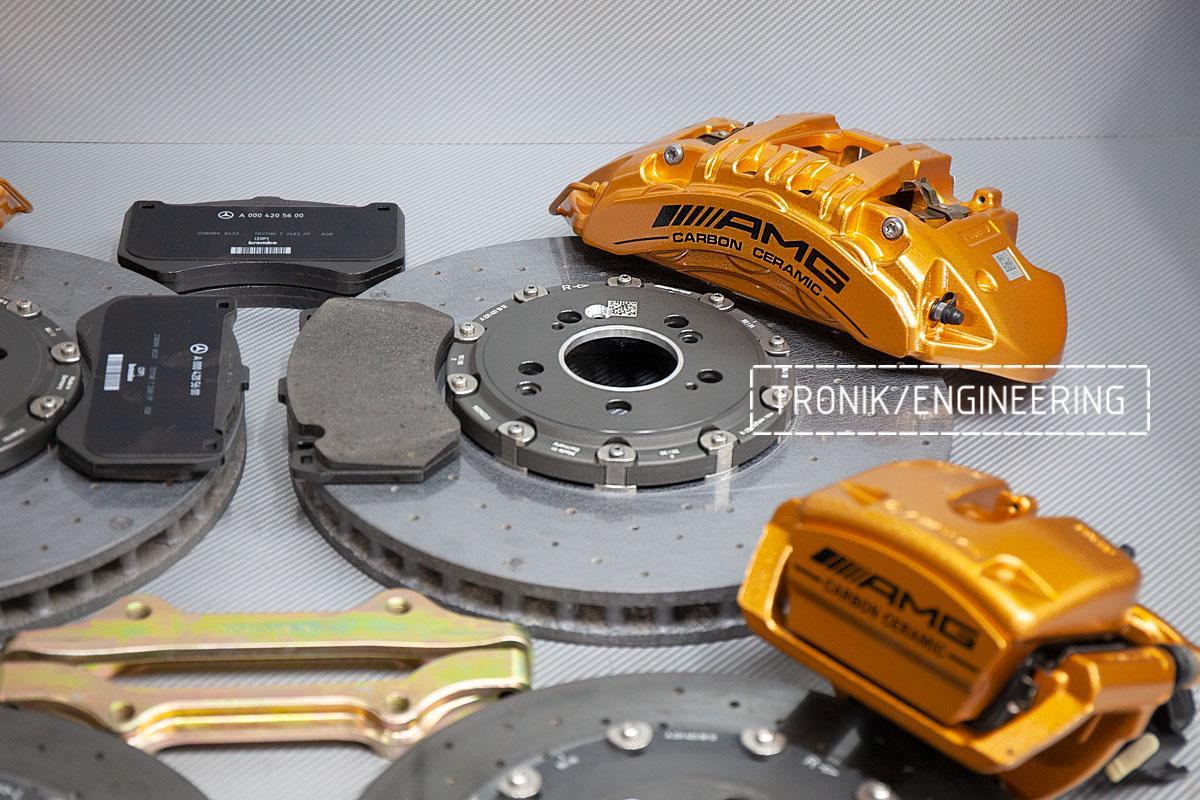 Карбон-керамическая тормозная система Mercedes-Benz AMG GT53 W290. Фотография 3