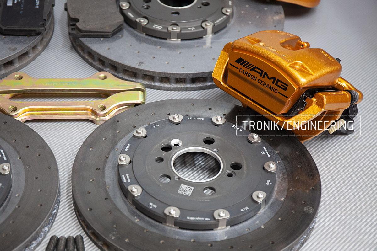 Карбон-керамическая тормозная система Mercedes-Benz AMG GT53 W290. Фотография 4